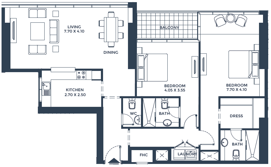 Floor plans mag property development for 2 bedroom flat plan drawing